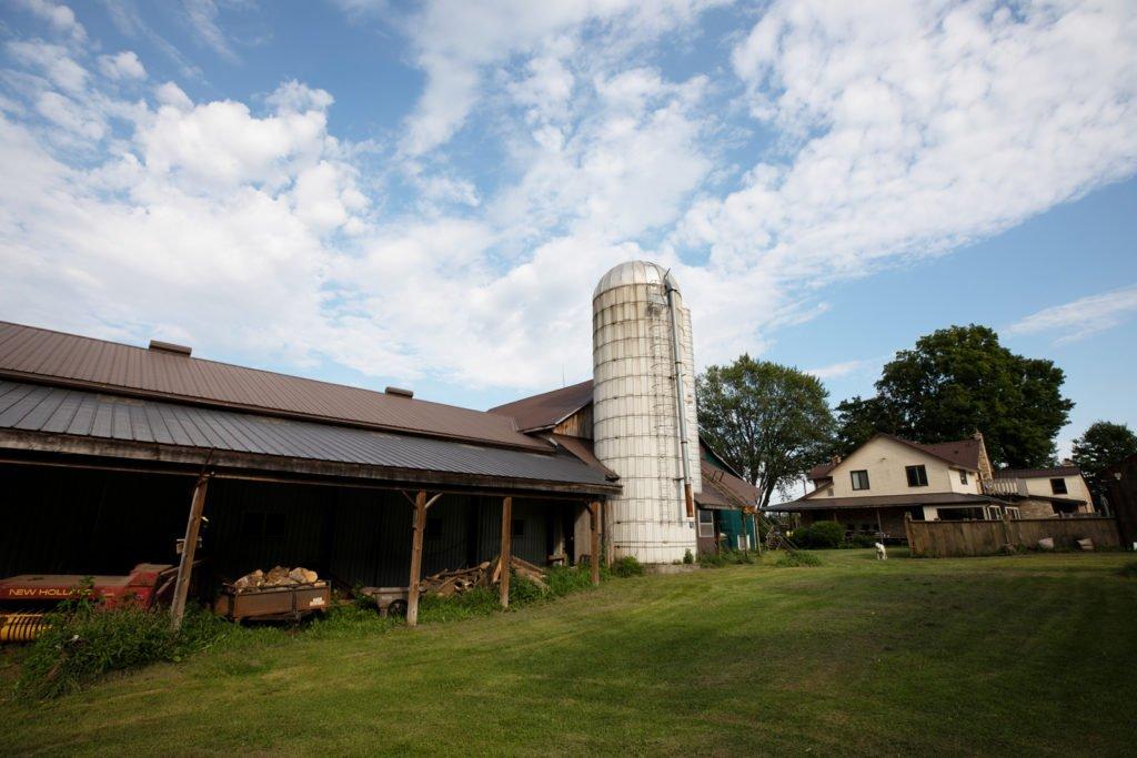 Homestead, farm with silo