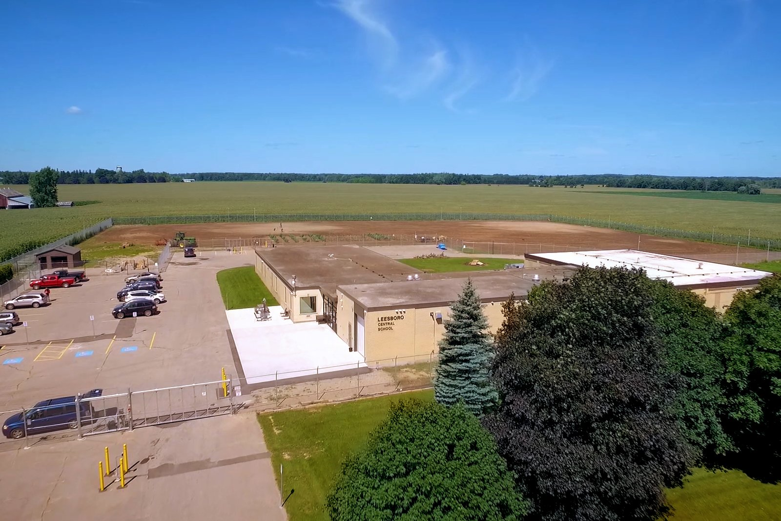 Aerial view of cannabis facility